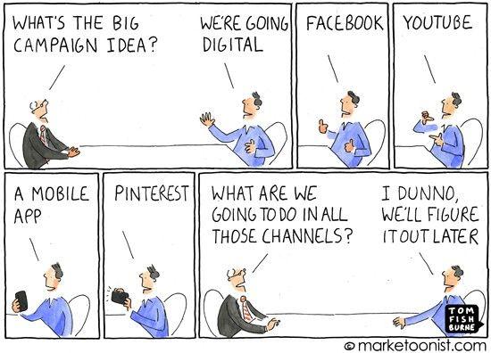 Illustrator Maketoonist makes light hearted cartoons about Marketing.