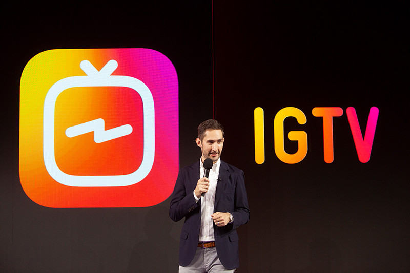 The launch of IGTV in San Francisco.