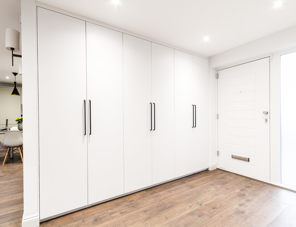 Bespoke fitted floor-to-ceiling wardrobes