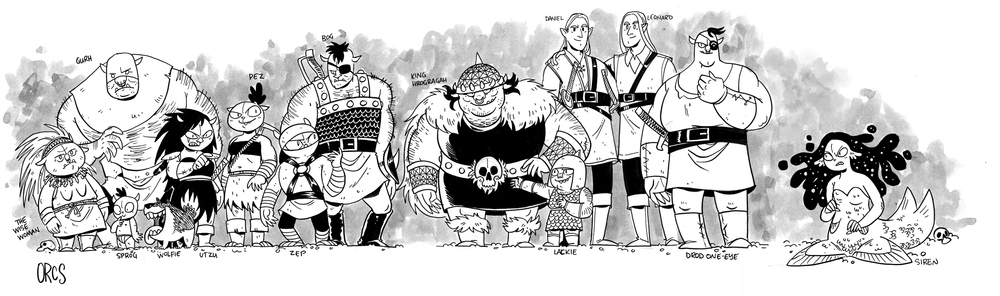 The cast of ORCS!