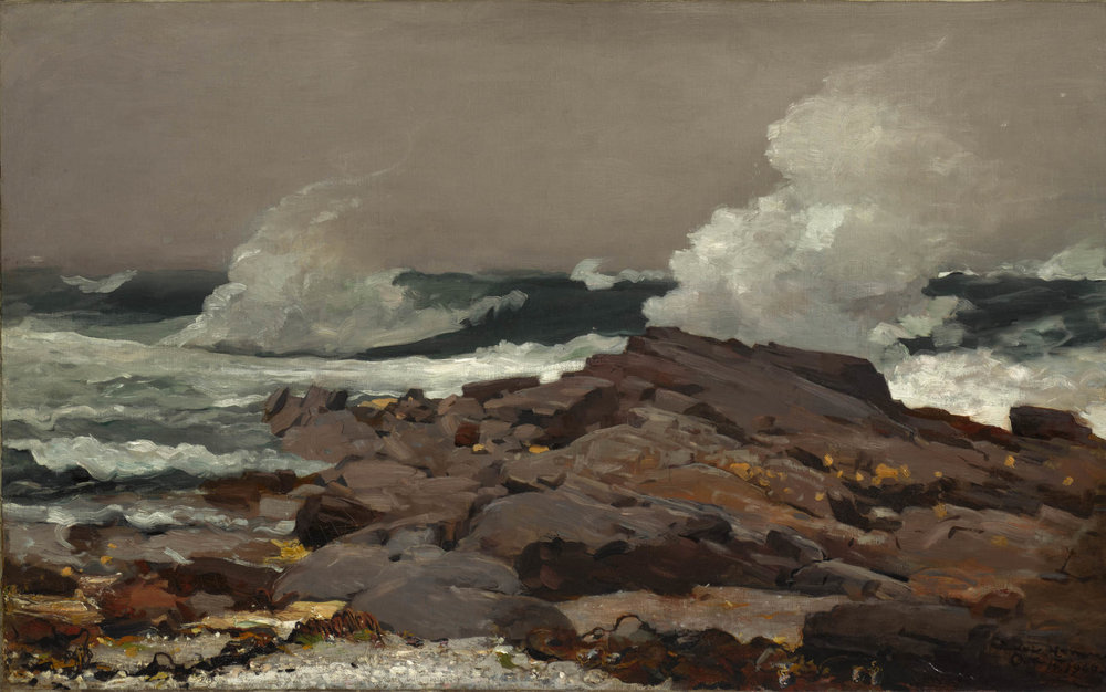 Winslow Homer (American; 1836–1910); Eastern Point; 1900. Oil on canvas; 30 1/4 x 48 1/2 in. (76.8 x 123.2 cm). Sterling and Francine Clark Art Institute; Williamstown; Massachusetts; 1955.6