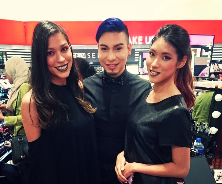Nada Heng with Global Makeup Artist for Kat Von D Beauty, Erik Soto and his Sephora model / canvas for the event