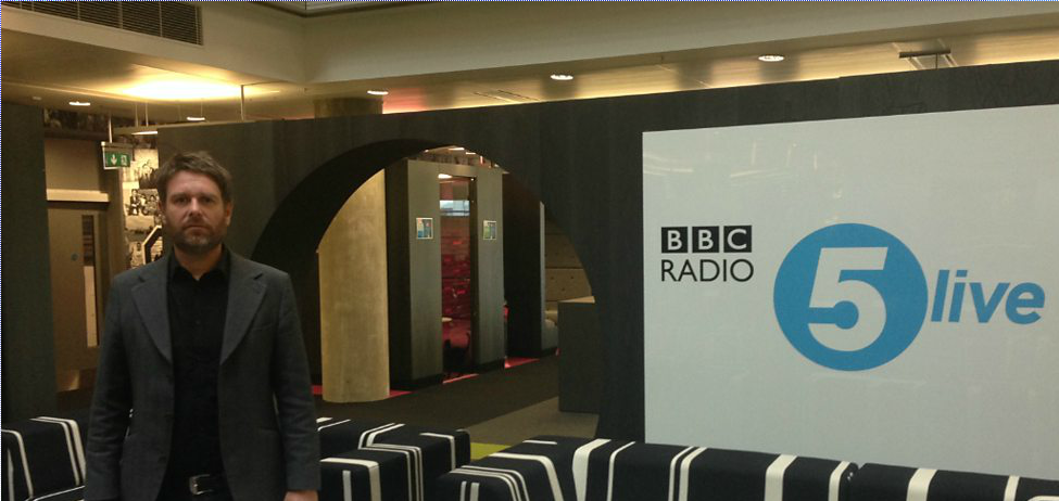Lee Pearse, The Valerie Foundation founder and Heeley City Farm dementia manager at the BBC studios before being interviewed live on air. To listen to the interview please follow this link http://www.bbc.co.uk/programmes/p0217sq5