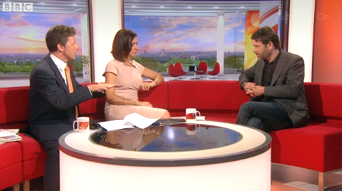 Lee Pearse, The Valerie Foundation founder and Heeley City Farm Dementia Manager doing his second interview on BBC Breakfast click http://www.bbc.co.uk/news/health-27917889 to see the video