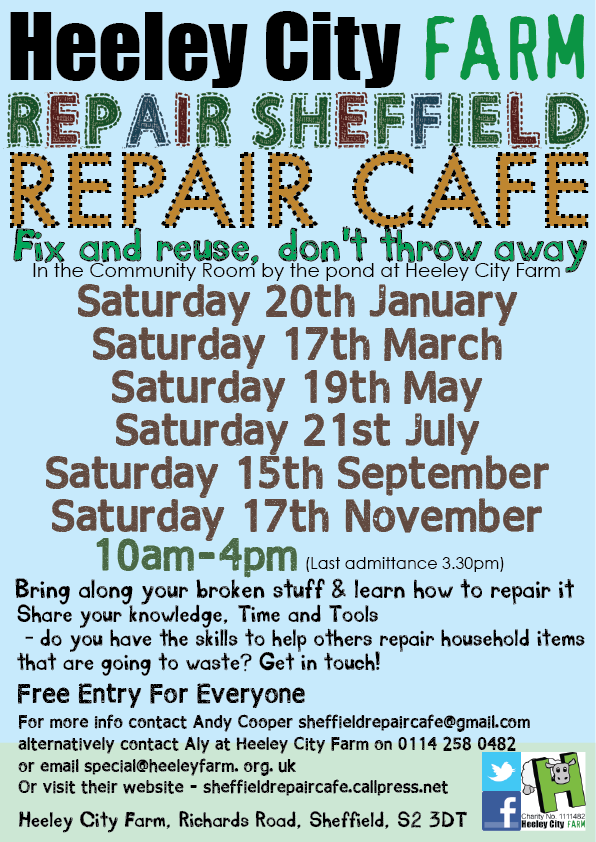 Bring your broken household items and learn how to fix them and save them from throwing them away