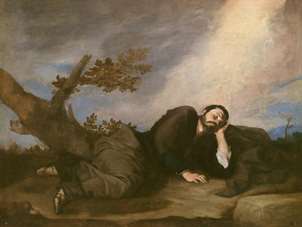JOSÉ DE RIBERA (1591-1652)   El sueño de Jacob, 1639, Óleo sobre lienzo, 179 x 233, Museo Nacional del Prado, Madri