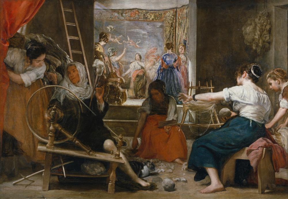 DIEGO VELÁZQUEZ (1599-1660)   Las hilanderas, 1655-1660, Óleo sobre lienzo, 167 x 252, Museo Nacional del Prado, Madrid