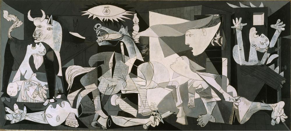 PABLO PICASSO (1881-1973)   Guernica, 1937, Óleo sobre lienzo, 349.3 x 776.6, Museo Nacional Centro de Arte Reina Sofía. © Sucesión Pablo Picasso, VGAP. Madrid, 2012  Goya