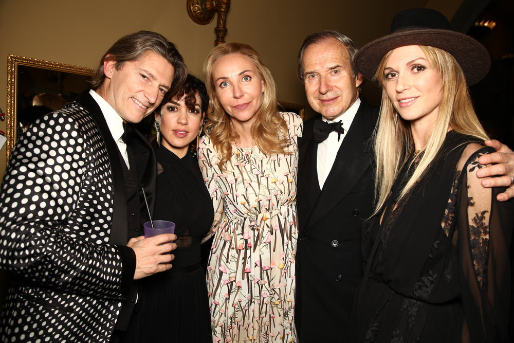 Arnaud Massenet, Fernanda Hernandez Franco  (Head PR & Art Projects LVR),  Michaela De Pury, Simon de Pury  (auctioneer) and  Cardine Massenet