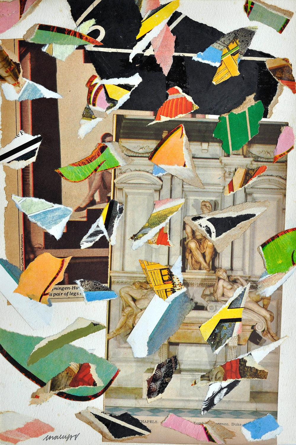 Tomb,   ( 1978)Collage ,  28 x 19,28 x 19, cortesía del artista y Asia Art Archive, Hong Kong.