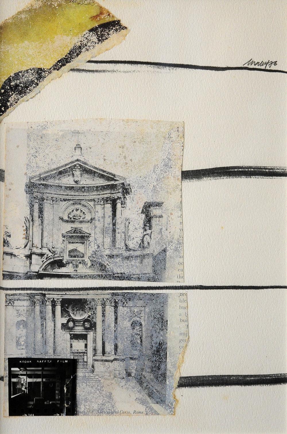 Untitled, 1976,collage y lápiz sobre papel, 26,7 x 17,8,todas las imágenes cortesía del Asia Art Archive, Hong Kong.