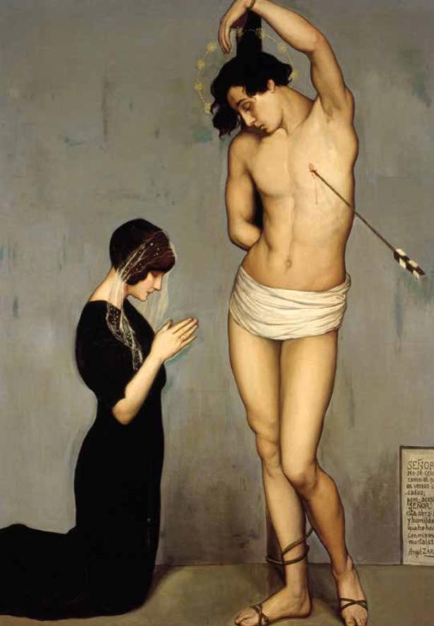 ÁNGEL ZÁRRAGA  (1886) Exvoto (San Sebastián), 1910-1912, óleo sobre tela, 185 x 134, cortesía del Museo Nacional de Arte, INBA, Ciudad de México.