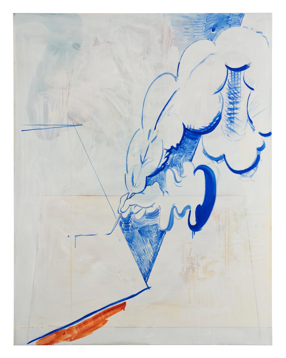 Ghostwriter, 2018, óleo sobre lino, 146 x 114 cm