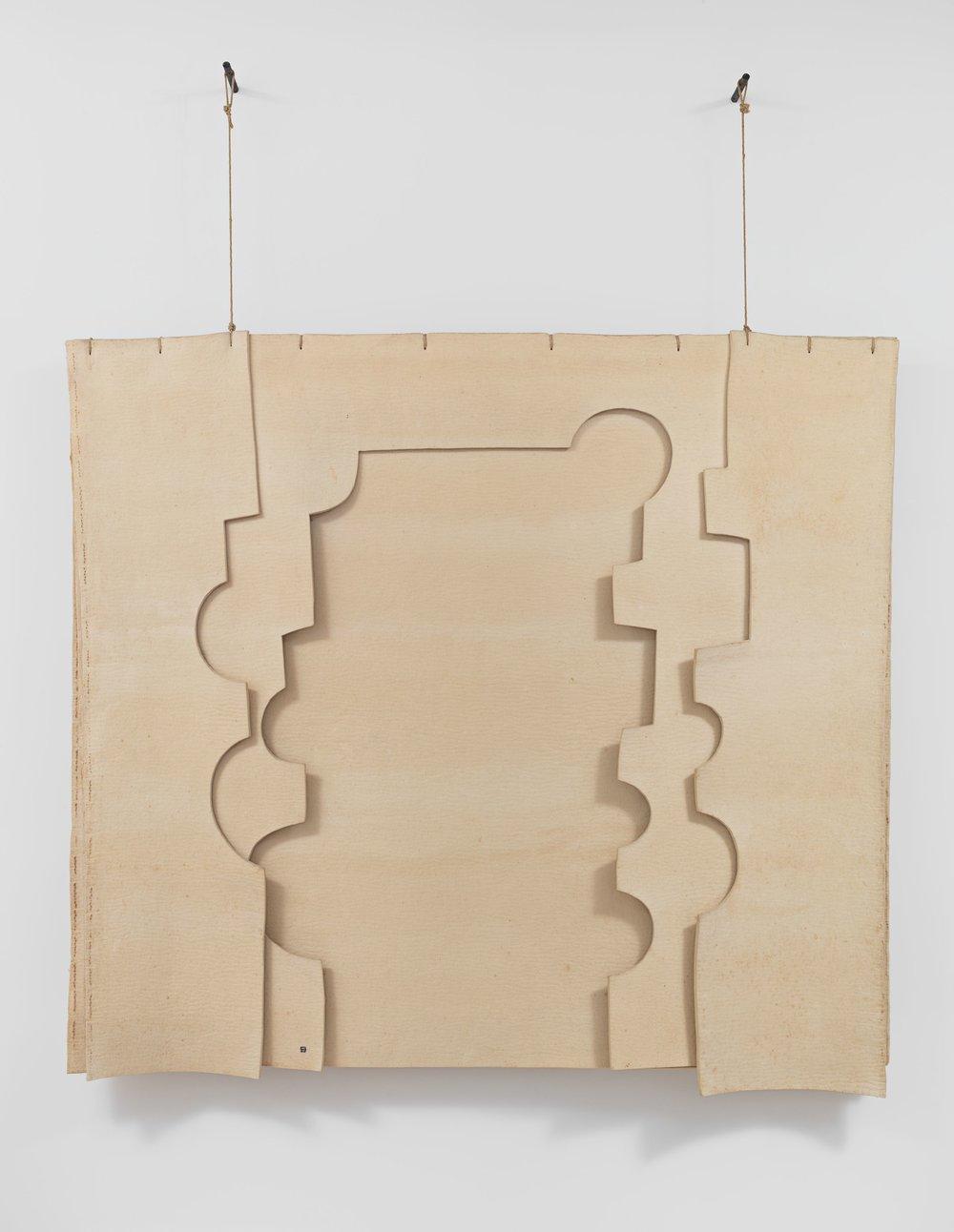 Eduardo Chillida Gravitación (Gravitation) 1990 Felt 179.2 x 194.2 cm / 70 1/2 x 76 1/2 in