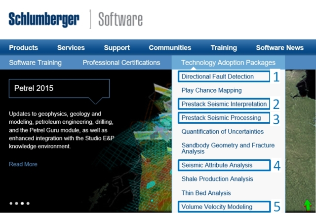 Photo: Schlumberger Geosciences Technology Adoption Packages that Matar created(from Schlumberger website)