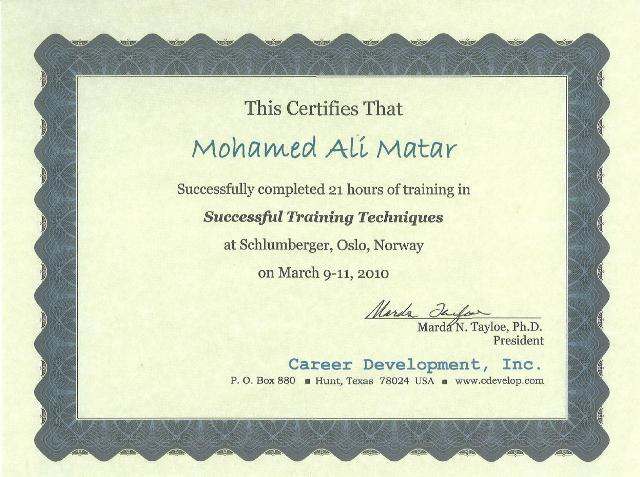 Photo: Train the Trainers Course Certificate.