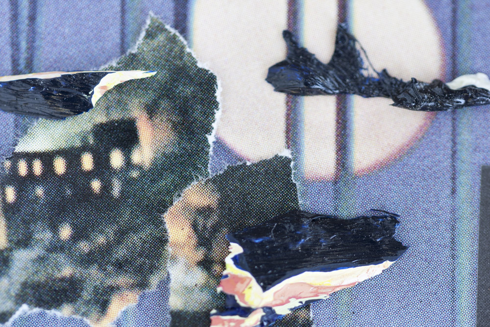 """Archival digital pigment print of collage 24""""x36"""""""