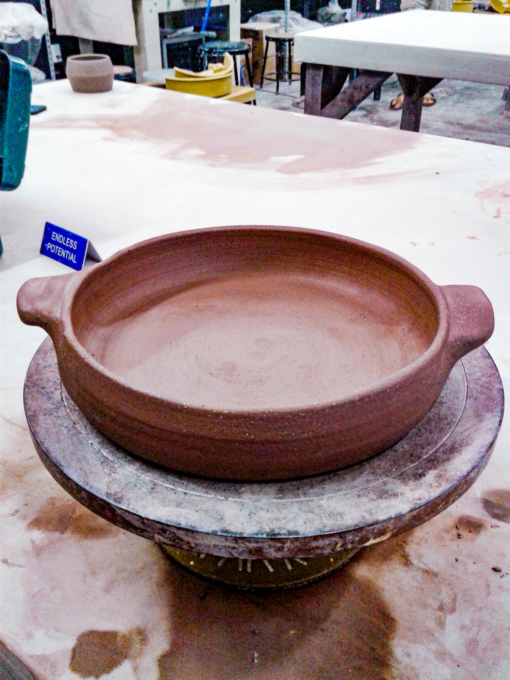 Red Clay Casserole Dish with handles made by Little Clay Studio, perfect for dishes, soups, restaurants, interior design, home, artistic kitchenware, pottery wheel thrown in Austin, Texas.