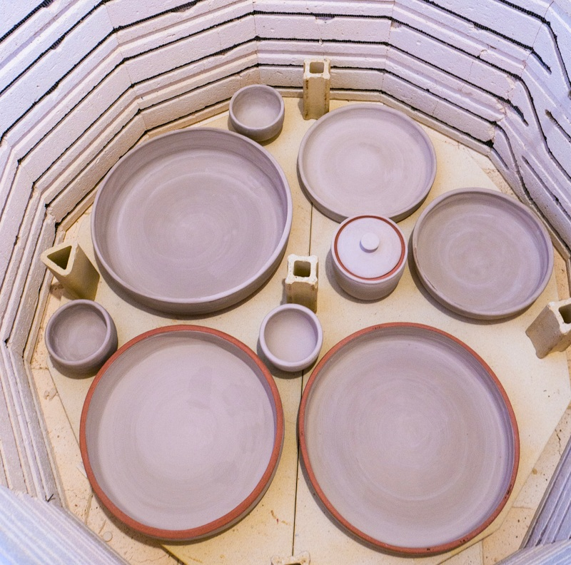 oversized clay bowls glaze firing in the ceramics kiln-2.jpg