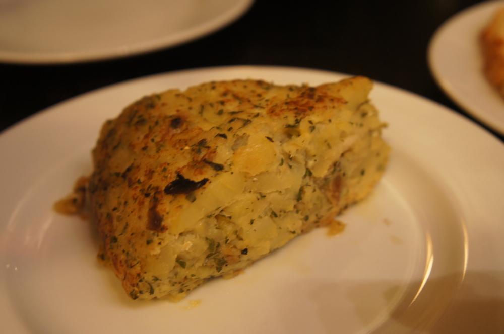 Tortilla de bacalhau. Minha favorita.