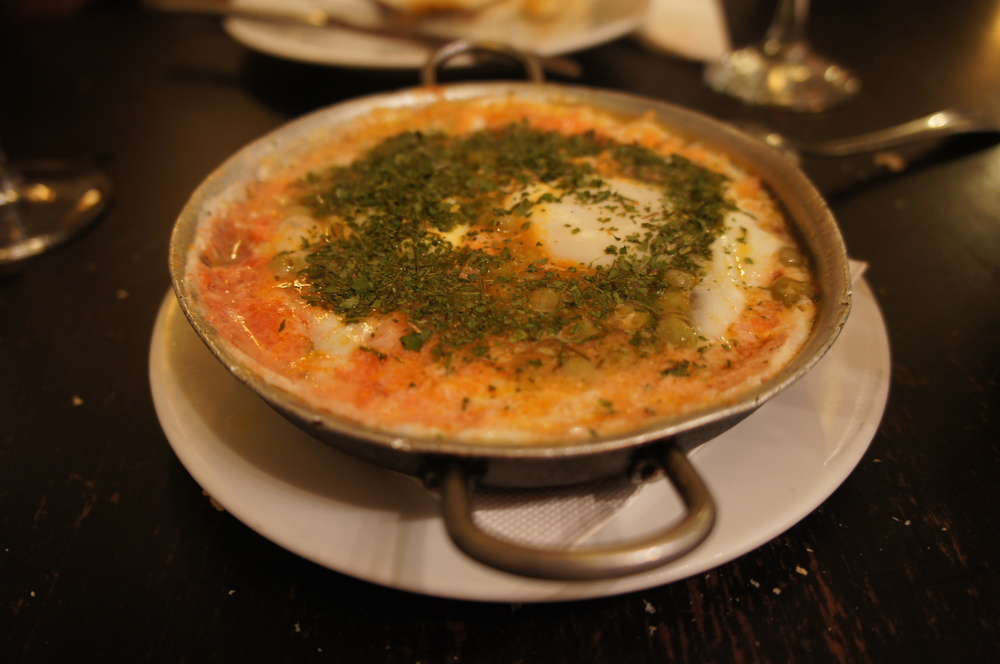 Huevos à la flamenca. Antes...