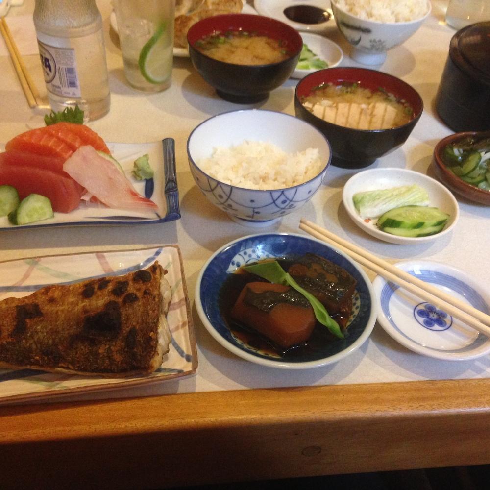 O sashimi teishoku da felicidade!