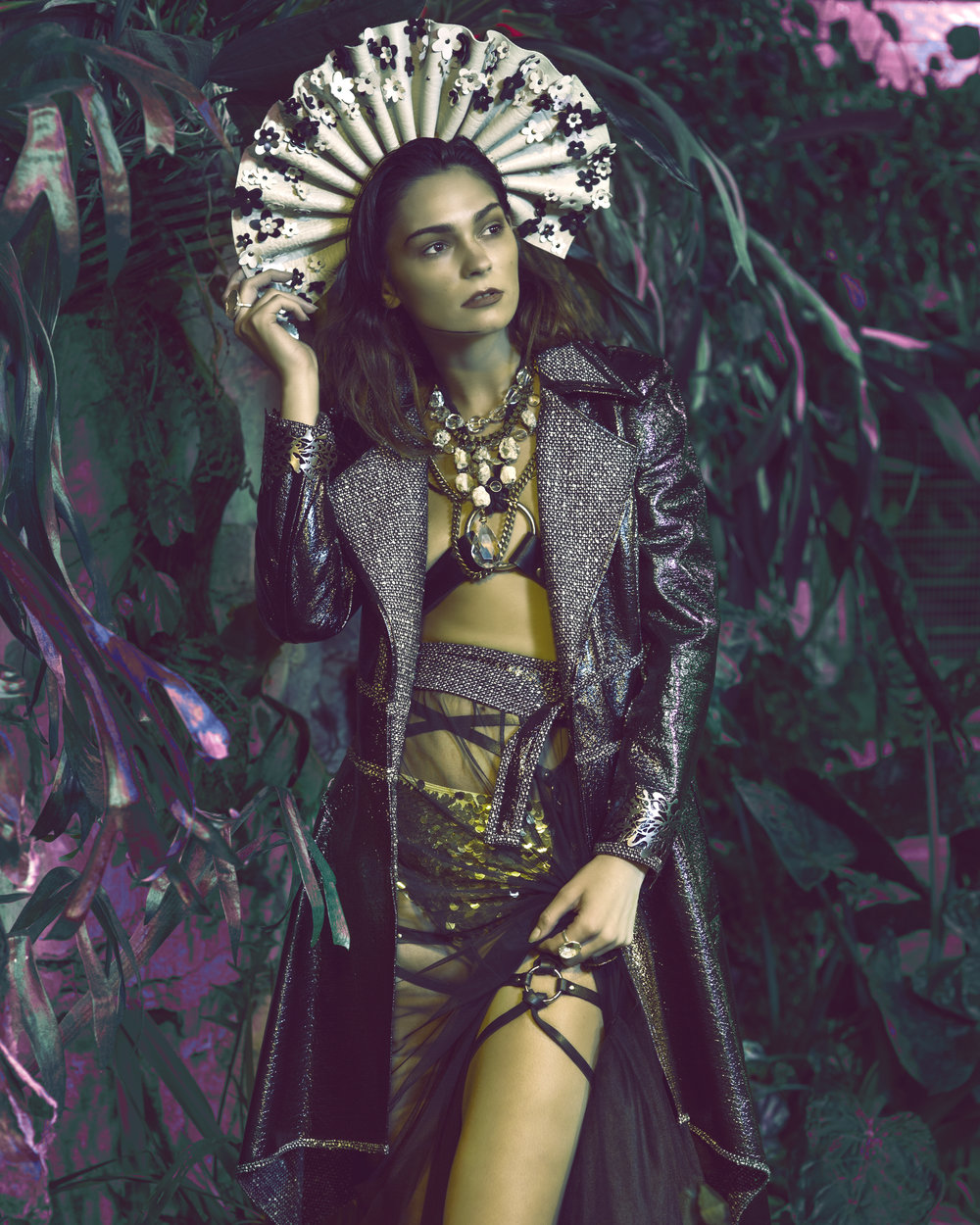 Trend Prive Magazine: Renascence - Photographer: Brad Austin / Stylist: Rachel Anne Gottlieb / Model: Shelby Smith / Hair: Morgan Giefer / Makeup: Hailey McFarland / Accessories: Ngan Vuong, Cheryl Eve Acosta, Sydney Pener Wardrobe: Natalia Meyer, Tabbetha Evans