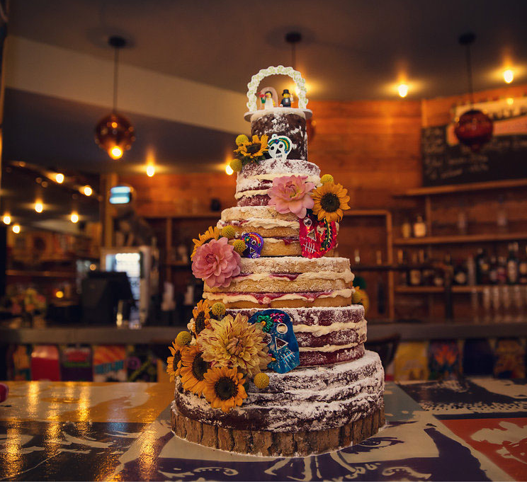 Day of the dead naked cake