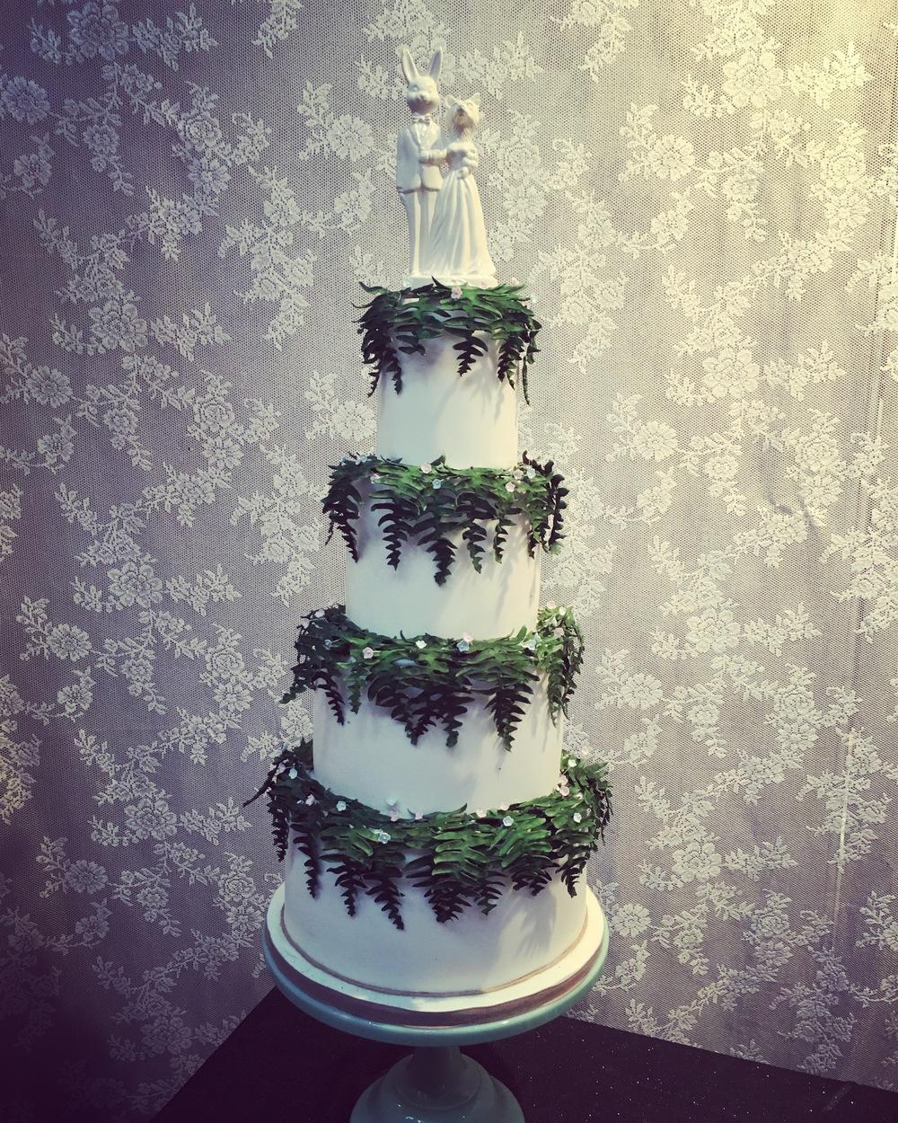 Woodland fern cake