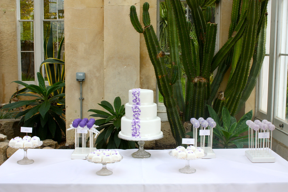 Lilac dessert table