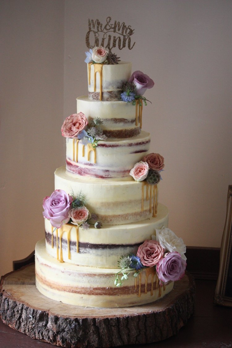 Wedding cake wedding cake makers london richmond teddington semi naked cakes junglespirit Images