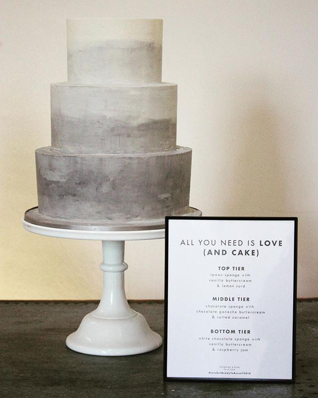 Concrete buttercream ombré cake @millbridgecourt today for G&R