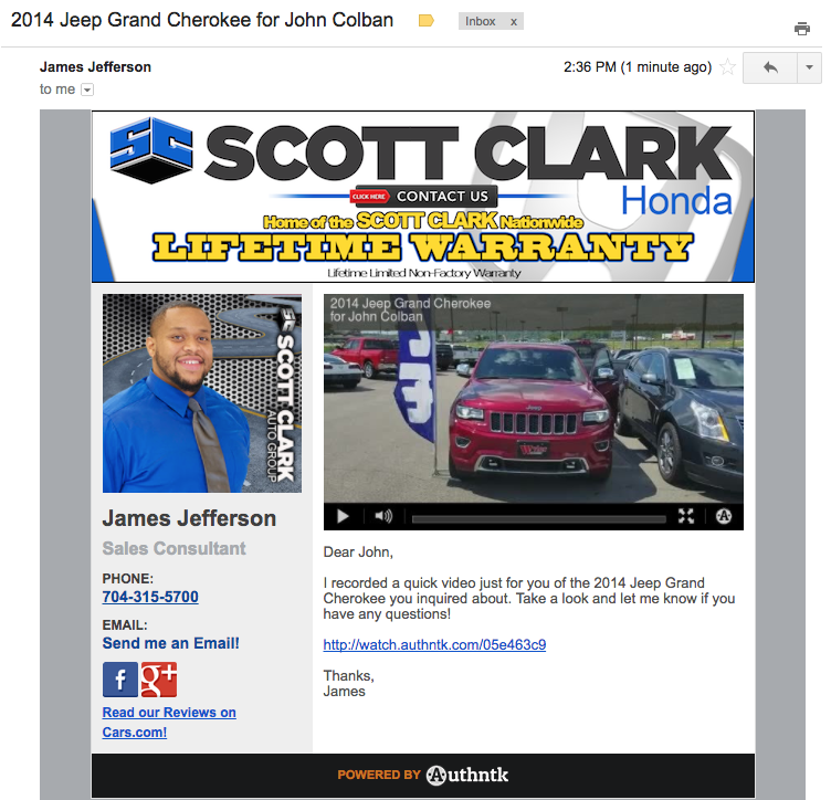 Video Email Template Scott Clark