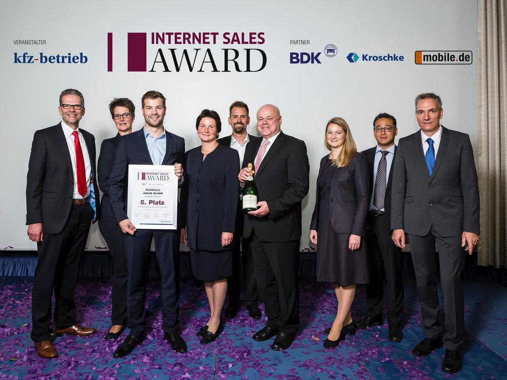 Autohaus Jakob Internet Sales Award