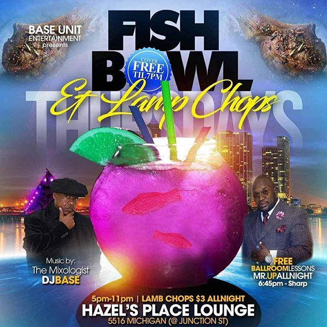 Mature people come experience our Fishbowl & Lamb Chops,free admission until  7 PM free secure parking.