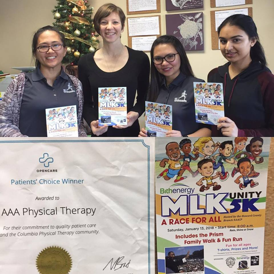 NAACP MLK 5K unity run AAA Physical Therapy - Personalized Rehabilitation with great reviews at Columbia Howard County MD.jpg