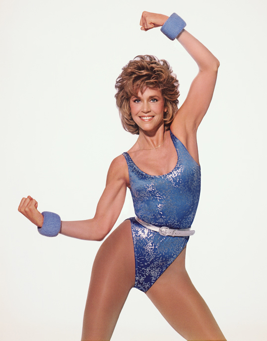 Jane Fonda is just one of the workout guru's that Helen mentions in her book.