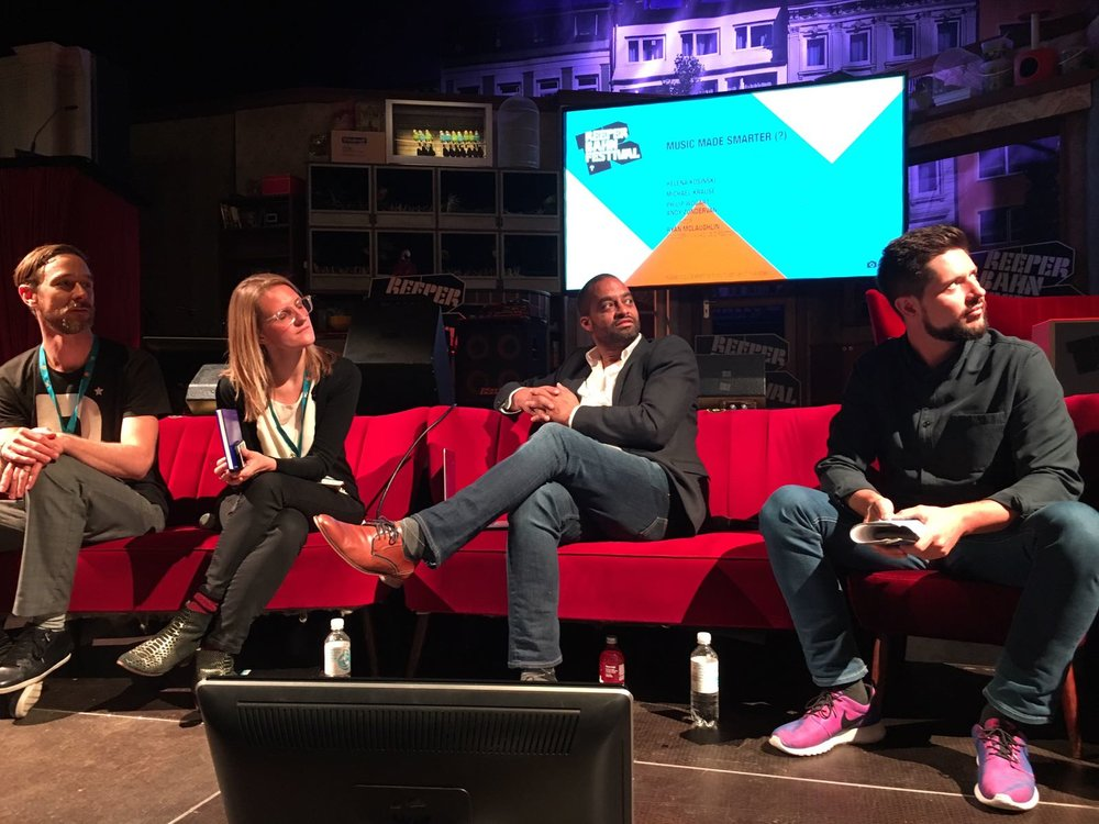Moderation: the above panel discussion, Music Made Smarter (AI's role in the Music Business) @Reeperbahn Festival in Hamburg with executives from the global music industry.