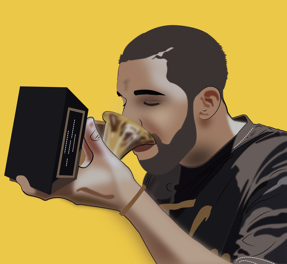 Drake Drinking From Grammy 3-2-01.jpg