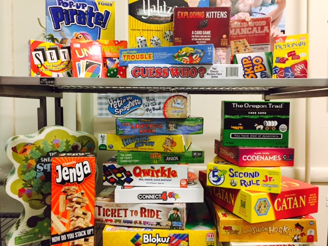 Shout out to the  Rachel Lynn Henley Foundation  for donating this awesome assortment of board games for all ages!