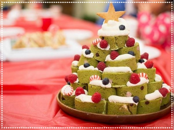 1st place, One (1)  Category B: Sweets (cakes, pies, cookies etc.)   marikosdeli     Matcha Christmas Tree Cake