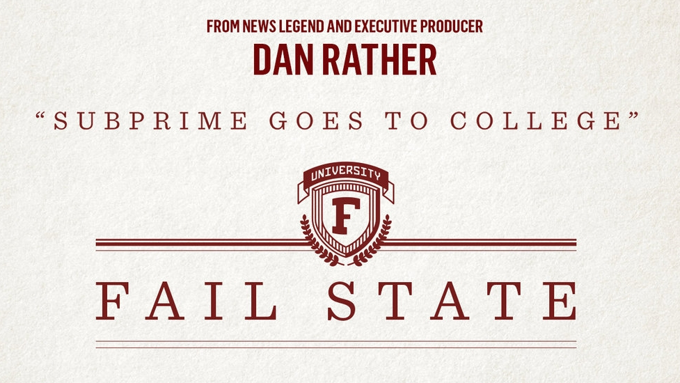 3:30pm                        Documentary film: Fail State - directed by Alexander Shebanow /USA/90minutes Pryor Center Screening RoomThis expansive exposé reveals the dark side behind the rise of predatory for-profit colleges and how a cabal of politicians and unscrupulous business tycoons sold out the dream of American Higher education.