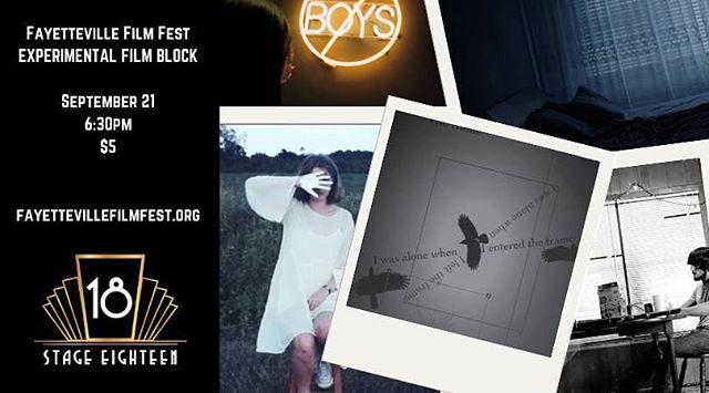 https://filmfreeway.com/FayettevilleFilmFest/tickets  #FFF18  #fayfilmfest  #experimentalfilm #experiencefayetteville
