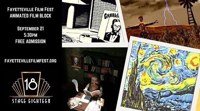 https://filmfreeway.com/FayettevilleFilmFest/tickets  #FFF18  #fayfilmfest  #animatedshorts #experiencefayetteville