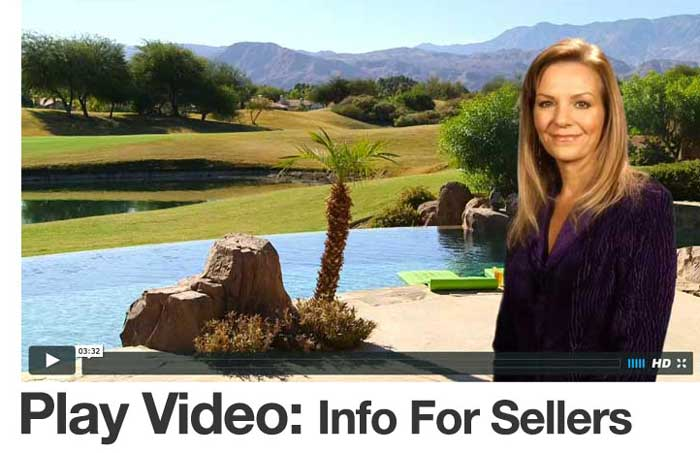 Video information for Palm Springs area home sellers with Realtor Sheri Dettman
