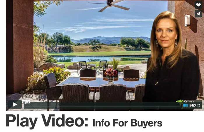 Video information for Palm Springs area home buyers with Realtor Sheri Dettman