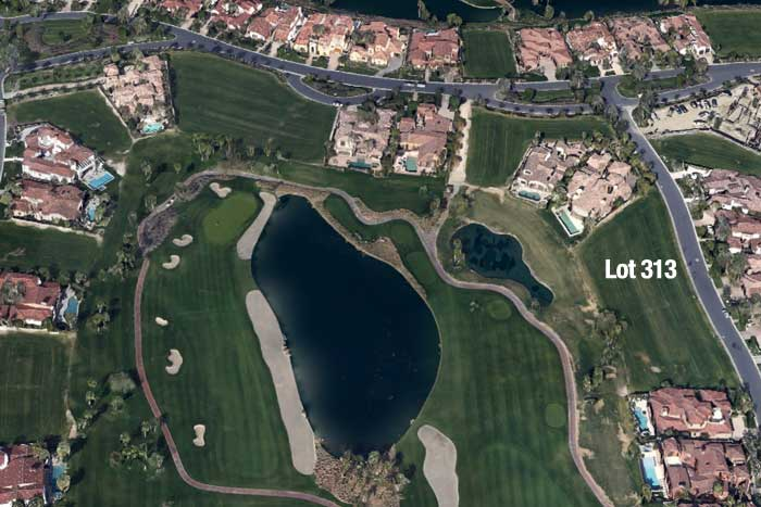 Hideaway golf club lot for sale map location