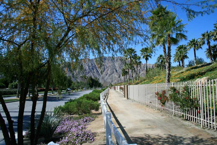 La Quinta street adjacent to Hideaway Golf Club La Quinta