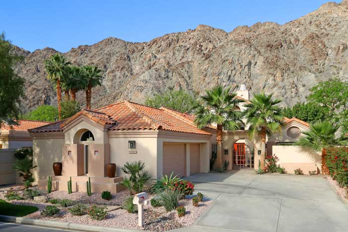 PGA West La Quinta home with desert landscape