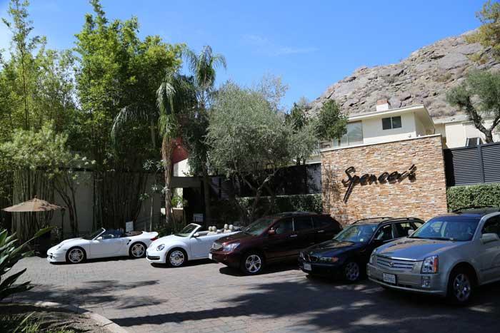 Spencers Restaurant Palm Springs entrance